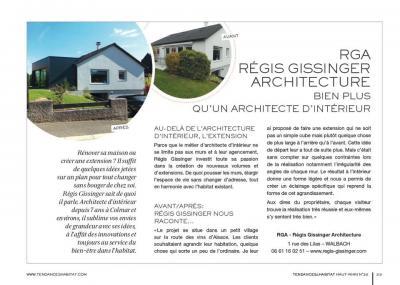 Article du magazine Tendances & Habitat Haut-Rhin